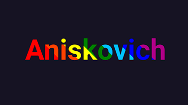 Разноцветный текст с анимацией при наведении на CSS
