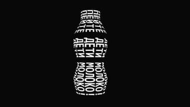 3D Фигура (бутылка) из текста на CSS и HTML с анимацией